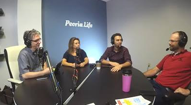 Tim Johnson and Stacy Borho of In The Neighborhood talk with Brent Baker and Aaron Cofeen of Bike Peoria.
