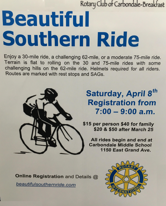 Flyer for the Beautiful Southern Ride